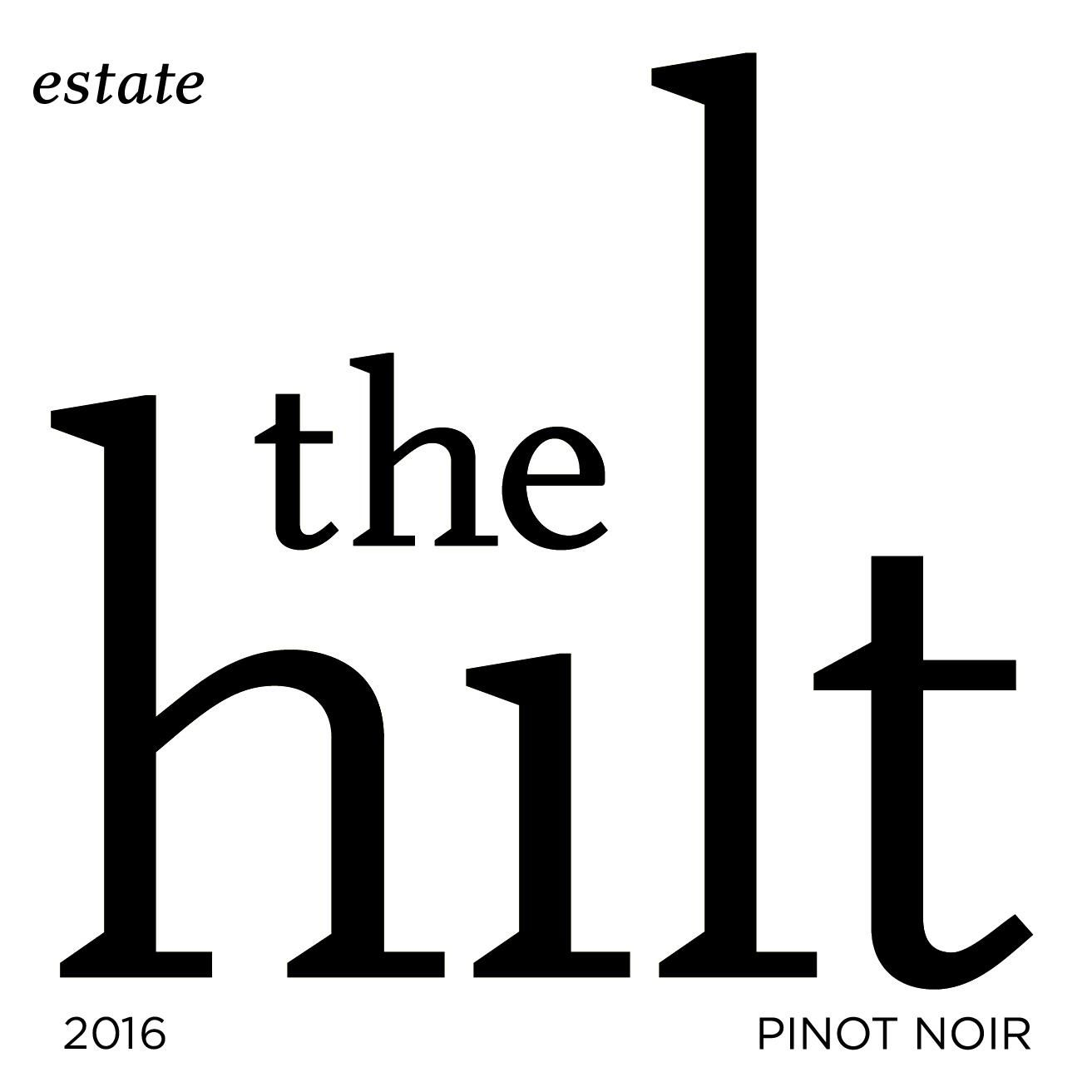The Hilt Estate Pinot Noir 2016 Front Label