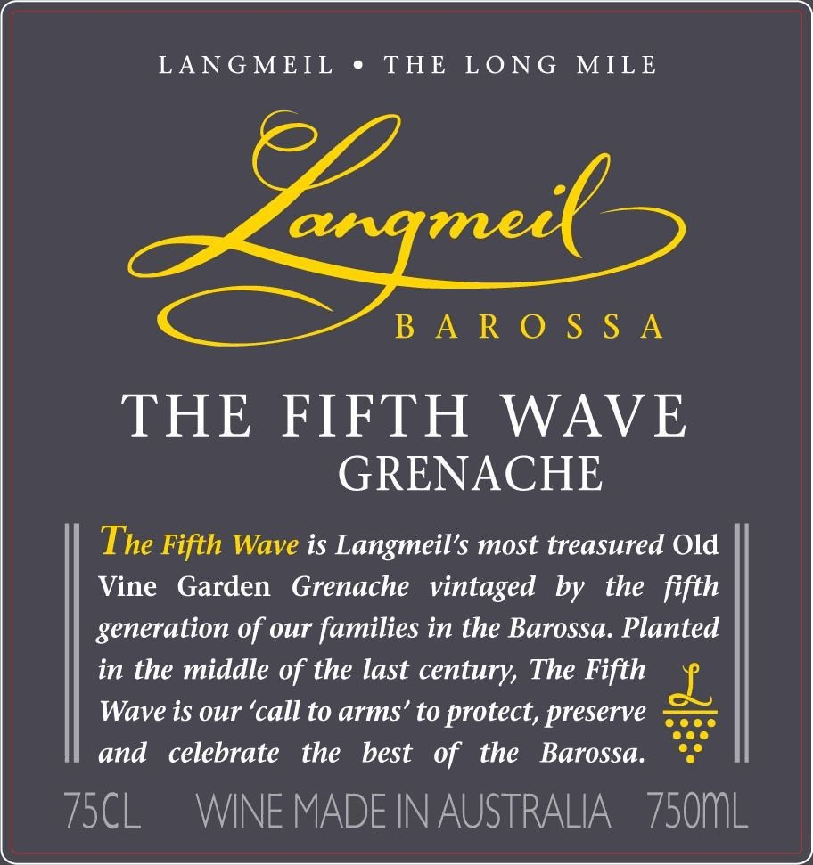 Langmeil The Fifth Wave Grenache 2010  Front Label