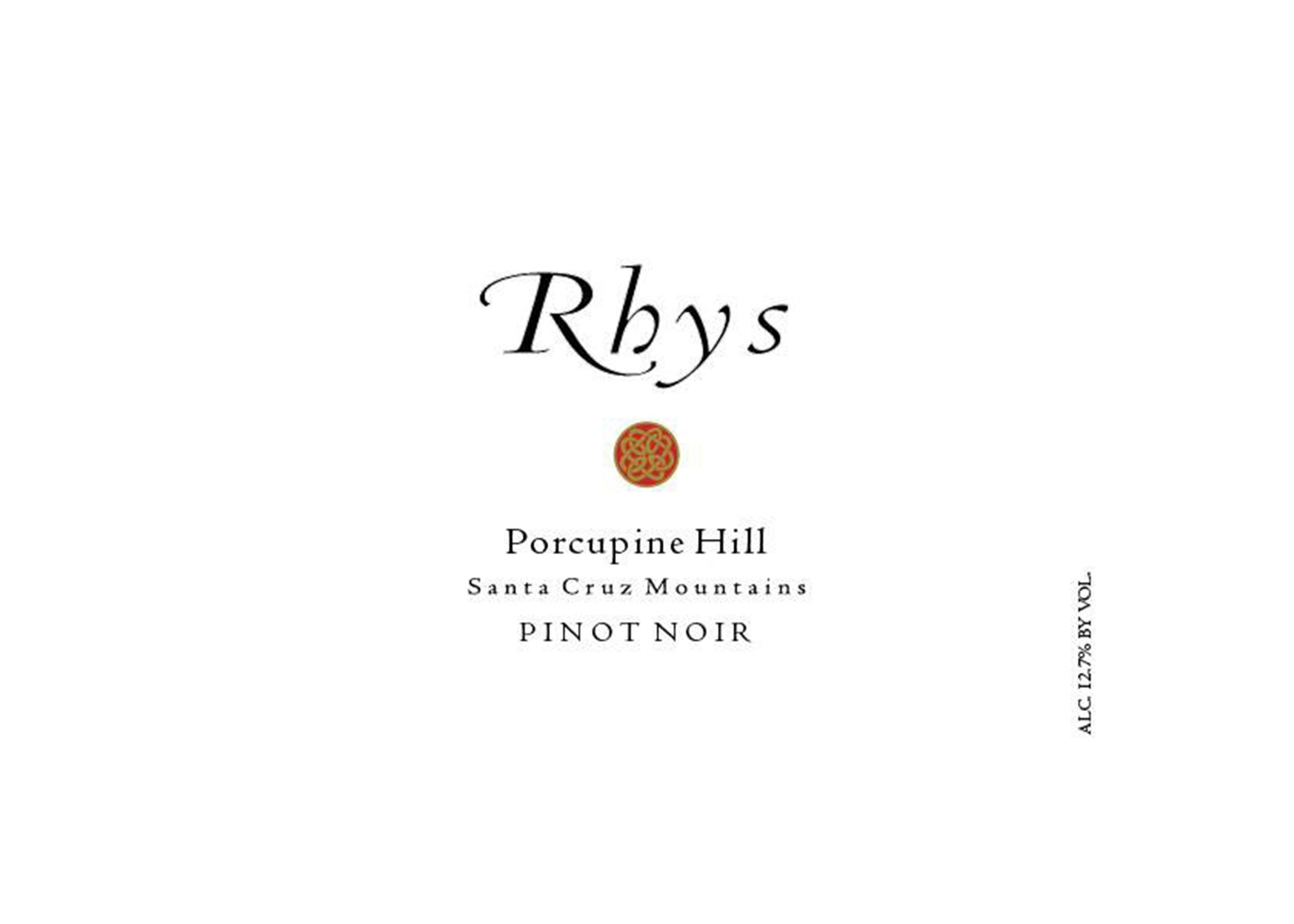 Rhys Vineyards Porcupine Hill Pinot Noir 2014  Front Label