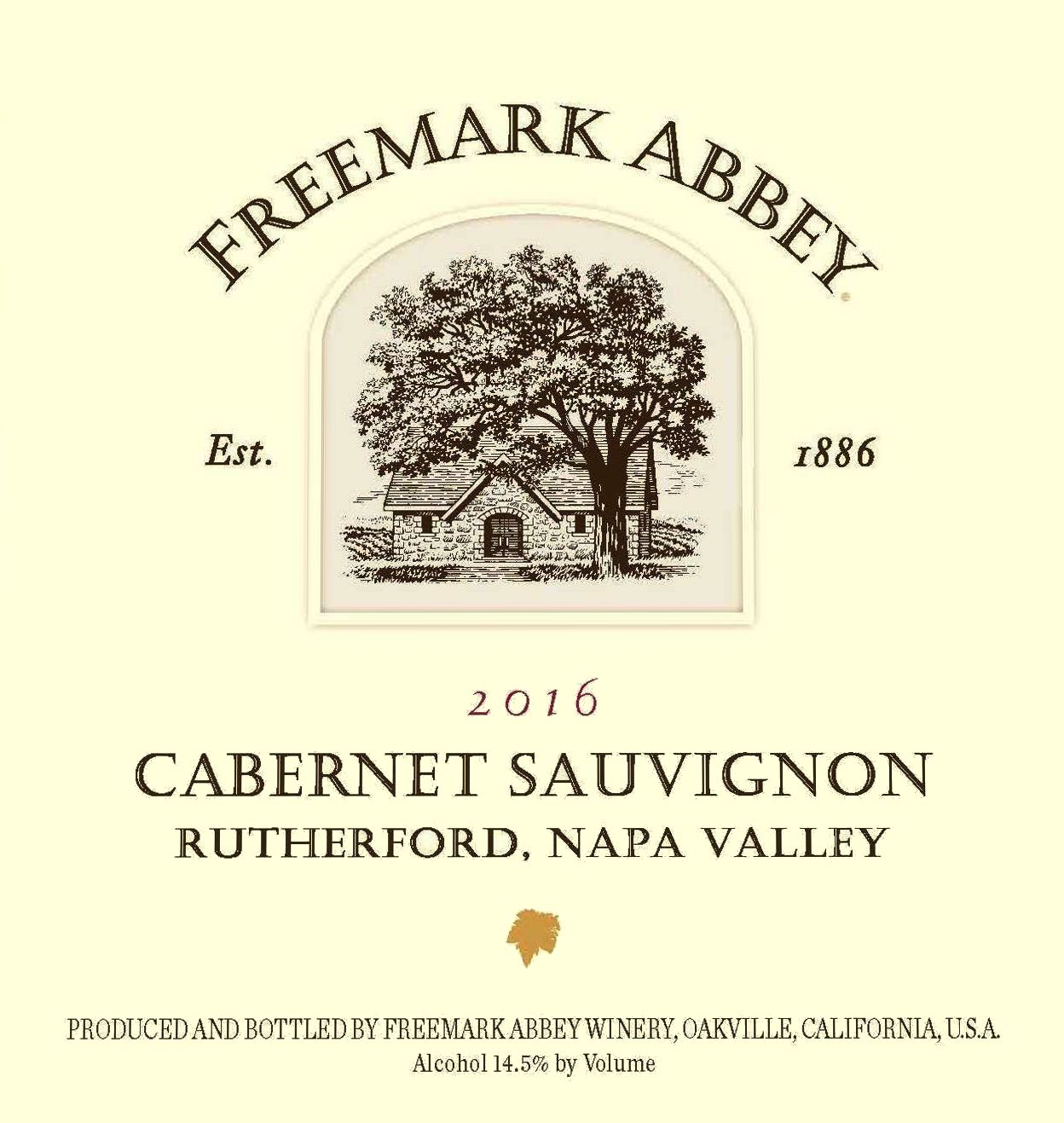 Freemark Abbey Rutherford Cabernet Sauvignon 2016  Front Label
