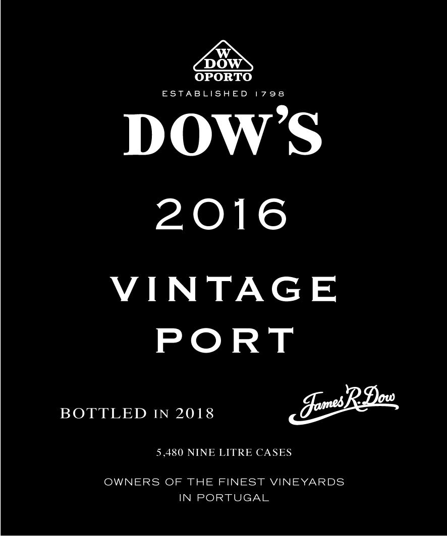 Dow's Vintage Port 2016 Front Label