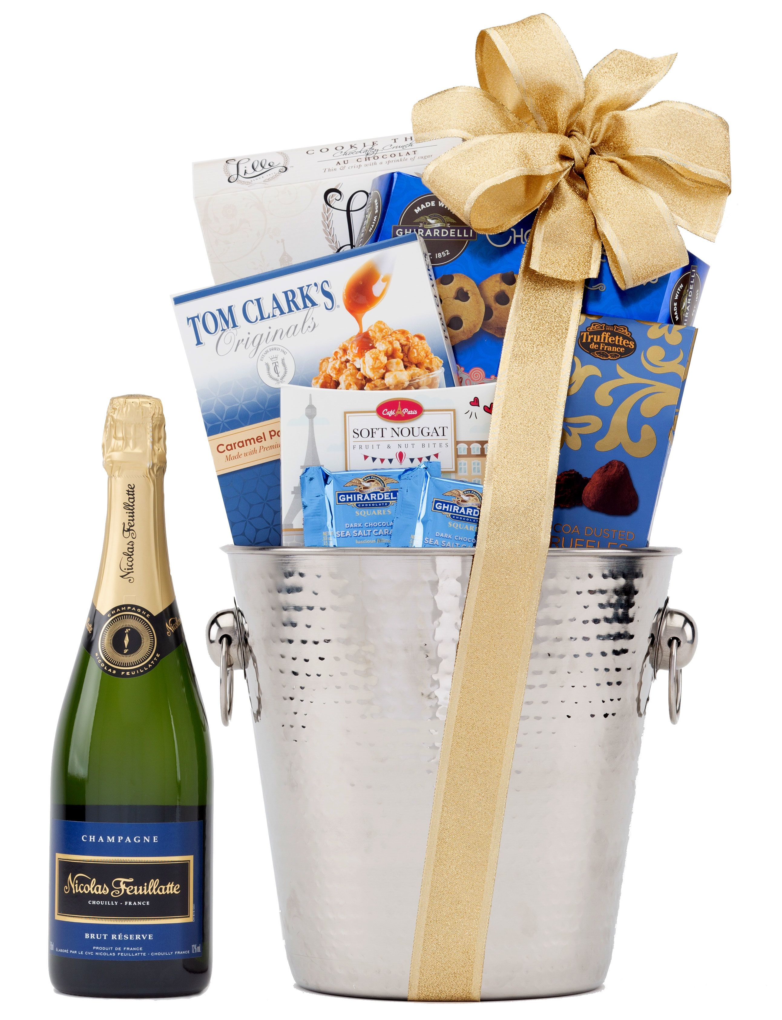 wine.com 91 Point Nicolas Feuillatte Champagne & Ice Bucket Gift Set  Gift Product Image