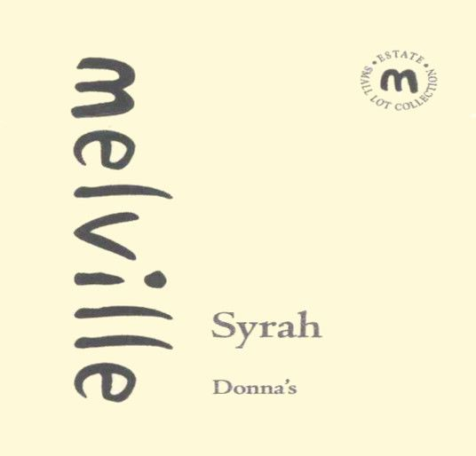 Melville Donna's Syrah 2007 Front Label