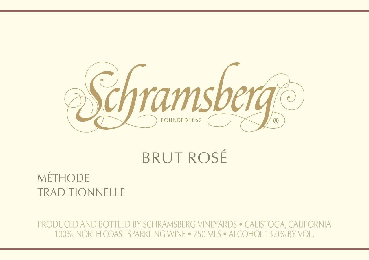 Schramsberg Brut Rose 2016 Front Label