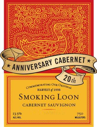 Smoking Loon Cabernet Sauvignon 2018 Front Label