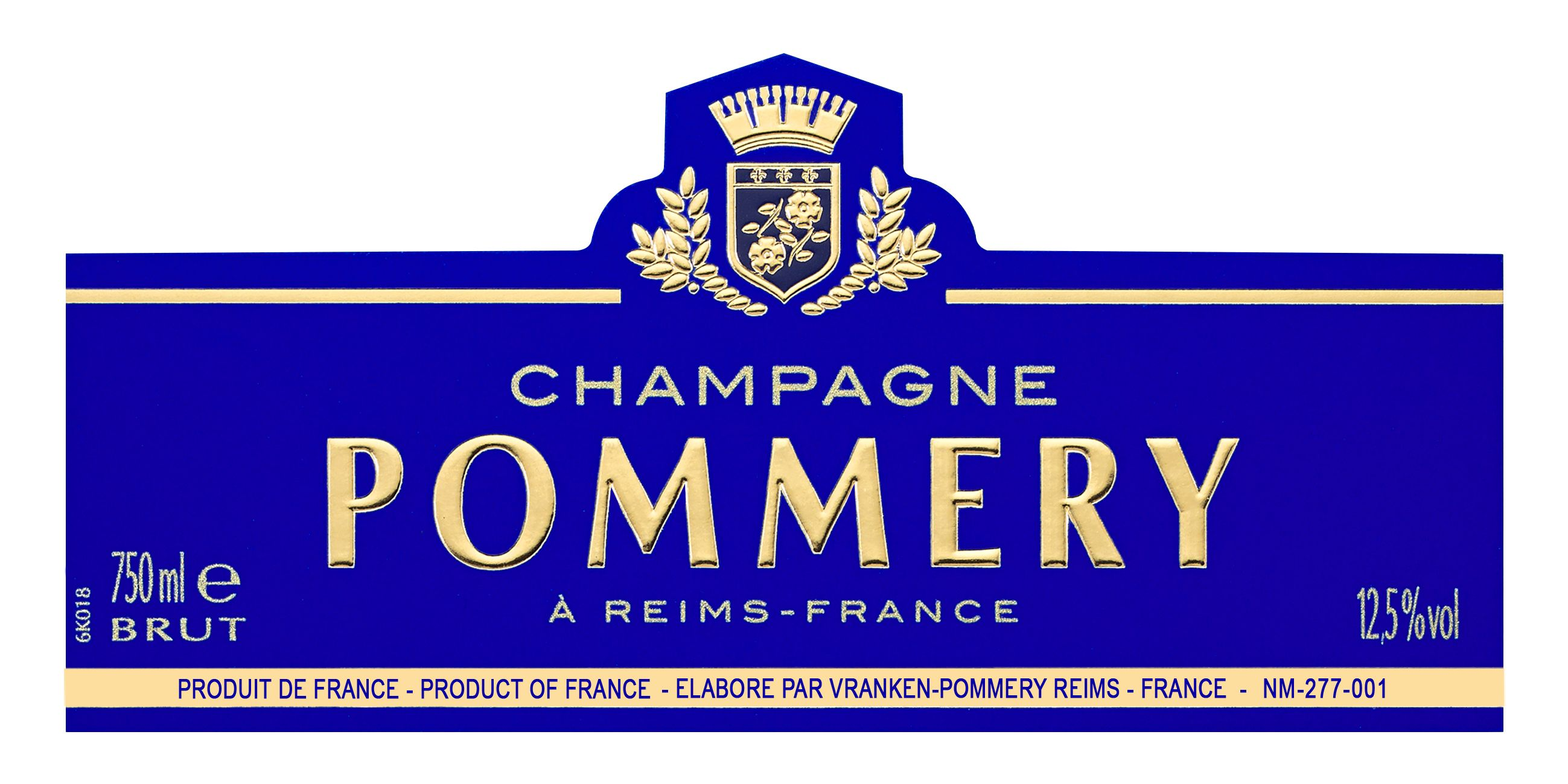 Pommery Brut Royal  Front Label