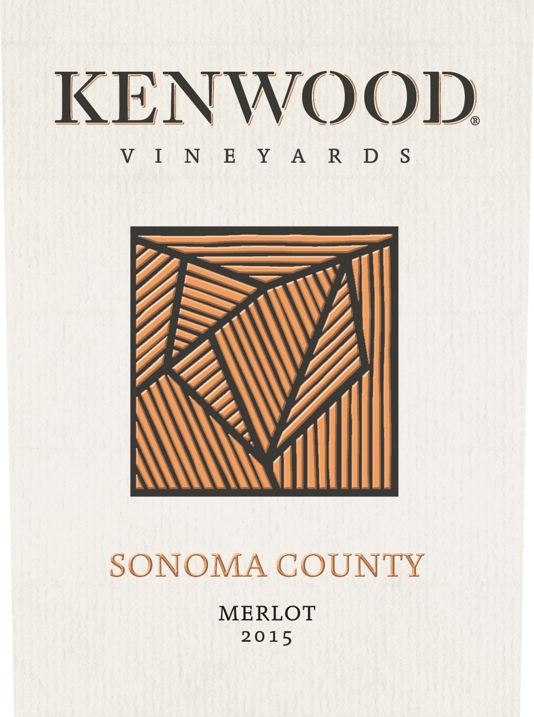 Kenwood Sonoma County Merlot 2015 Front Label