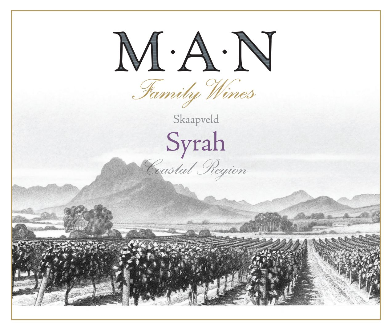 MAN Family Wines Syrah 2018  Front Label