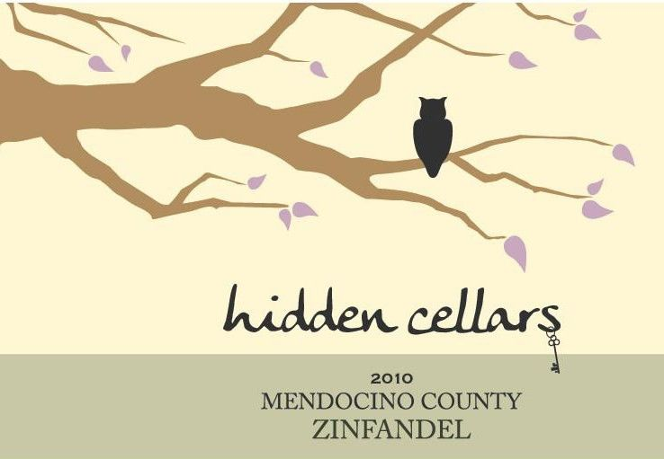 Hidden Cellars Zinfandel 2010  Front Label