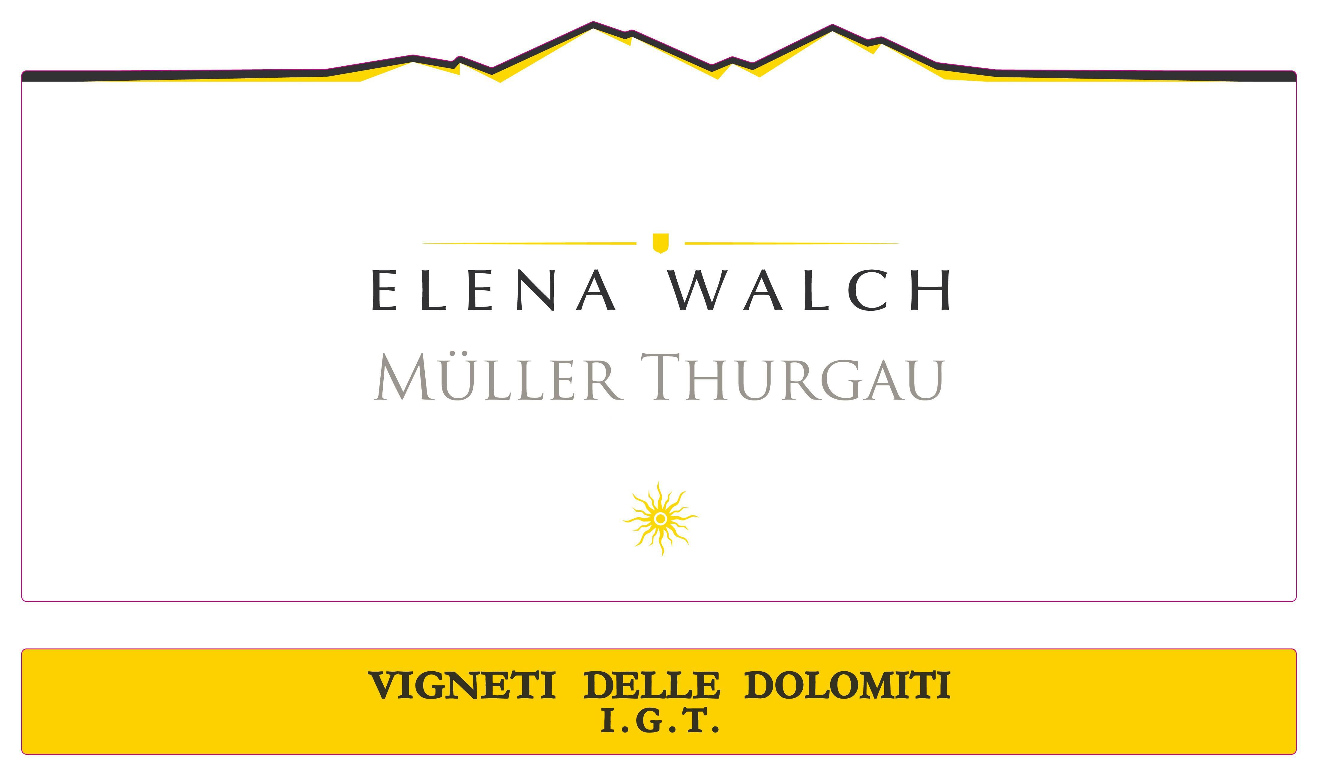 Elena Walch Muller Thurgau 2018  Front Label