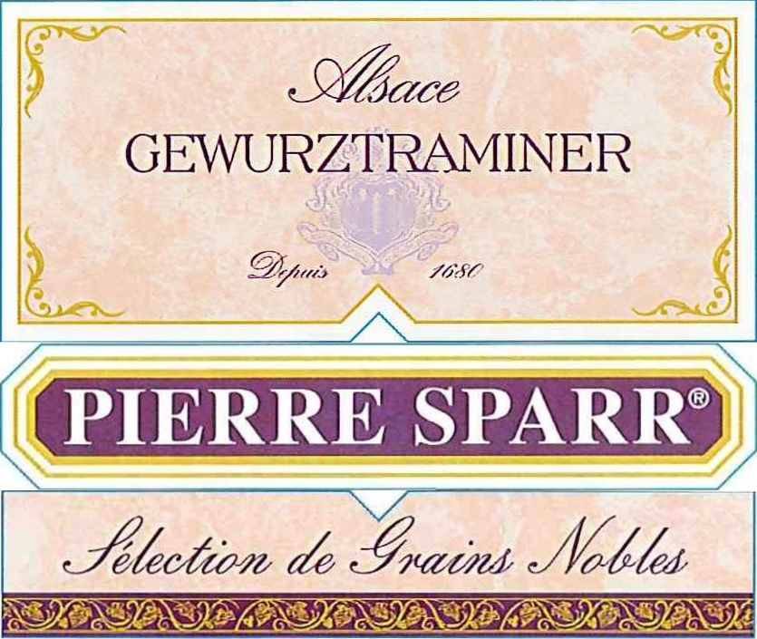 Pierre Sparr Alsace Selection de Grains Nobles Gewurztraminer 2005  Front Label
