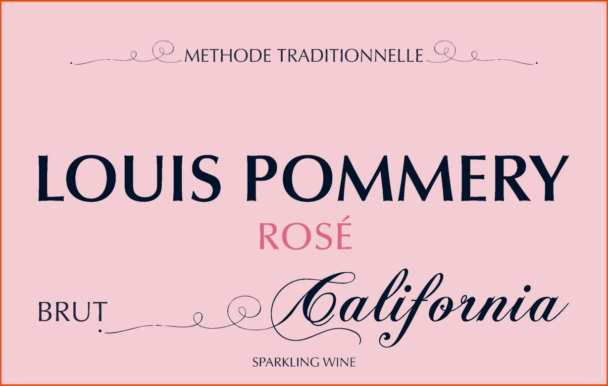 Louis Pommery Rose Brut California  Front Label