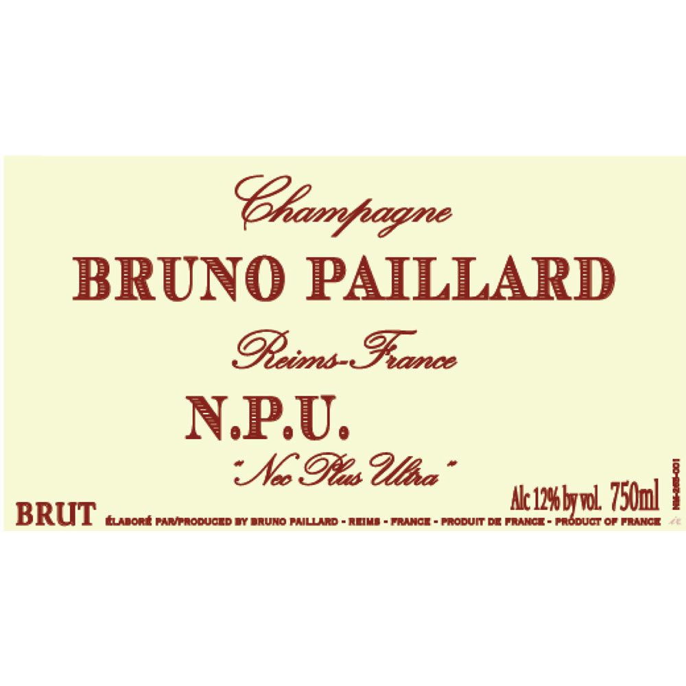 Bruno Paillard Nec Plus Ultra Brut 2002  Front Label