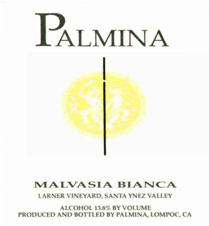 Palmina Larner Vineyard Malvasia Bianca 2006  Front Label