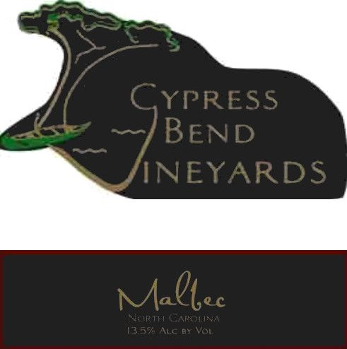 Cypress Bend Vineyards Malbec 2014 Front Label