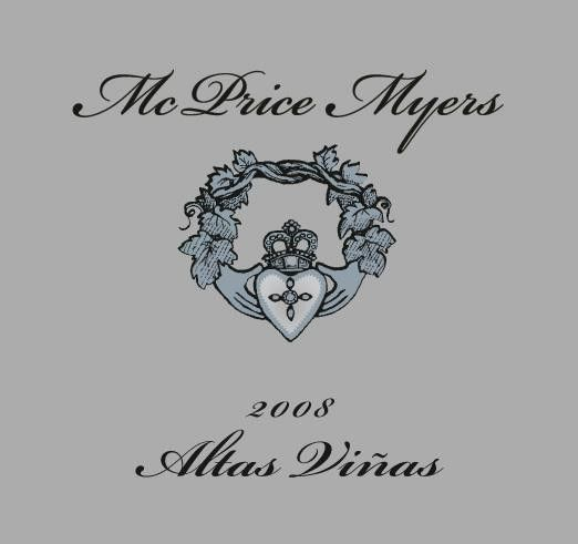 McPrice Myers Altas Vinas 2008 Front Label