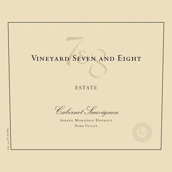 Vineyard 7 and 8 Estate Cabernet Sauvignon 2016  Front Label