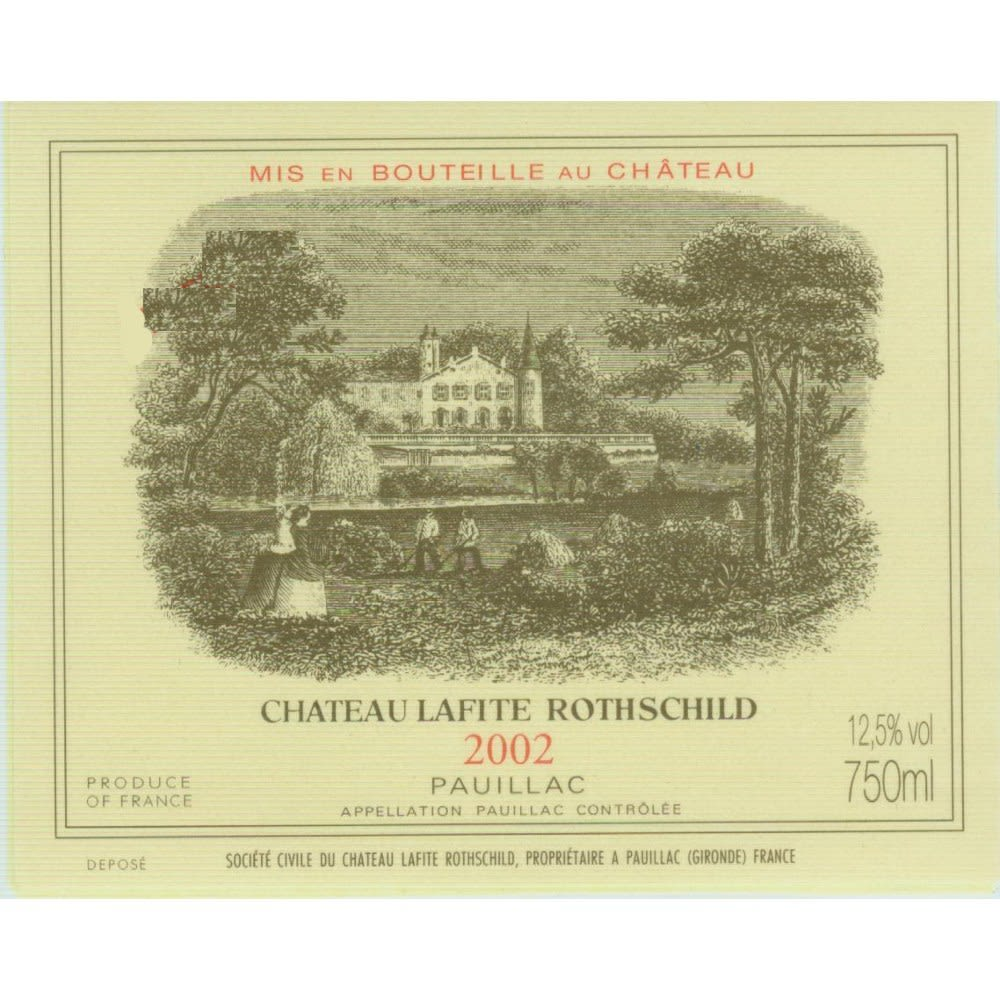 Chateau Lafite Rothschild (3 Liter Bottle) 2002  Front Label