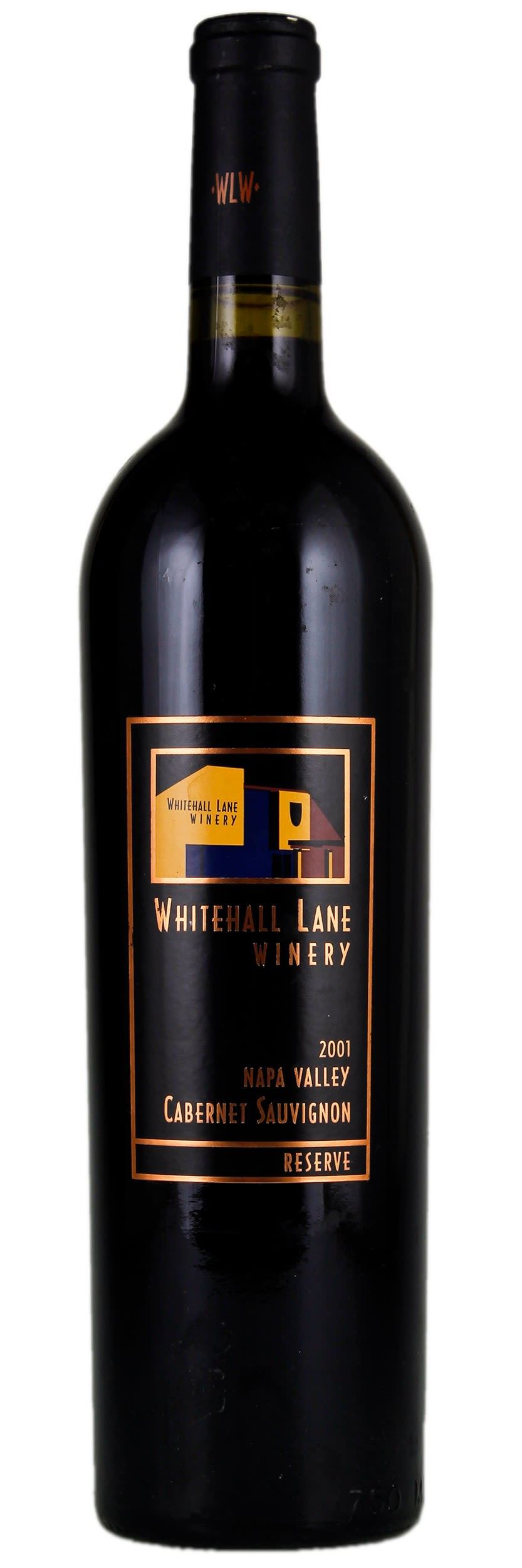 Whitehall Lane Reserve Cabernet Sauvignon 2001  Front Bottle Shot