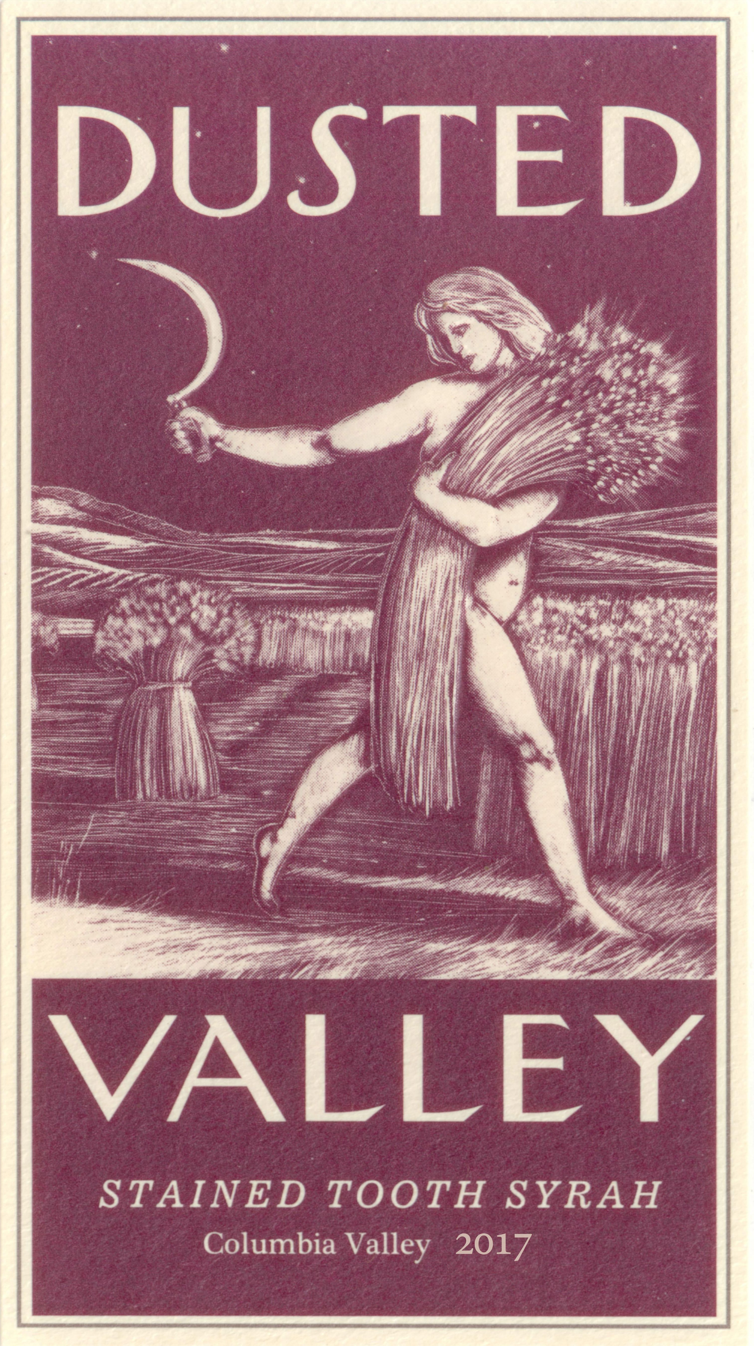 Dusted Valley Stained Tooth Syrah 2017  Front Label