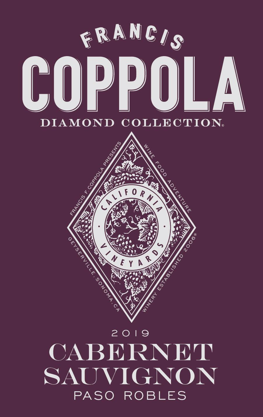 Francis Ford Coppola Diamond Collection Paso Robles Cabernet Sauvignon 2019  Front Label
