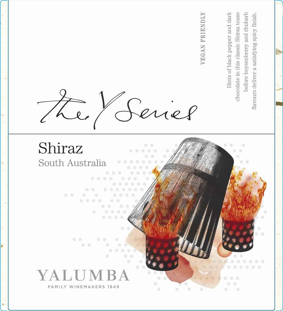 Yalumba Y Series Shiraz 2018  Front Label