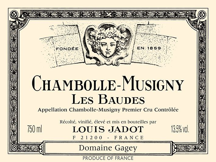 Louis Jadot Chambolle-Musigny Les Baudes Domaine Gagey Premier Cru 2017 Front Label