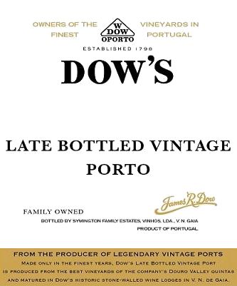 Dow's Late Bottled Vintage 2013 Front Label