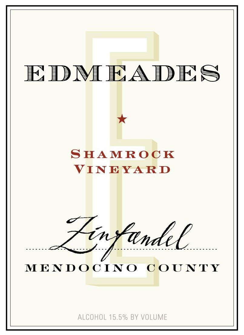 Edmeades Shamrock Vineyard Zinfandel 2010  Front Label