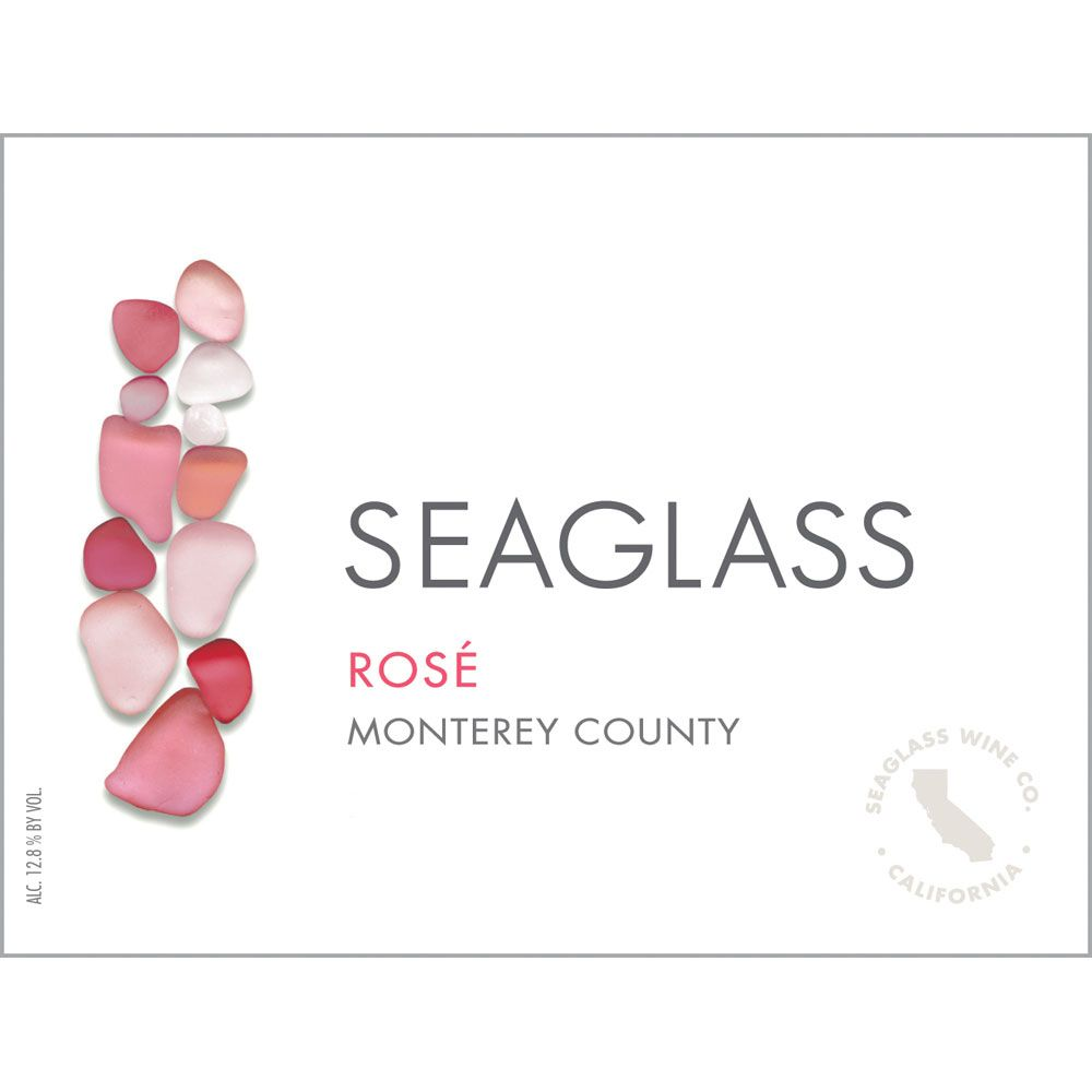 SeaGlass Rose of Pinot Noir 2018  Front Label