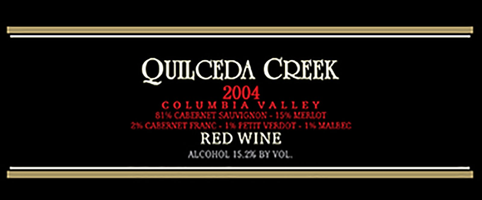 Quilceda Creek Columbia Valley Red 2004  Front Label