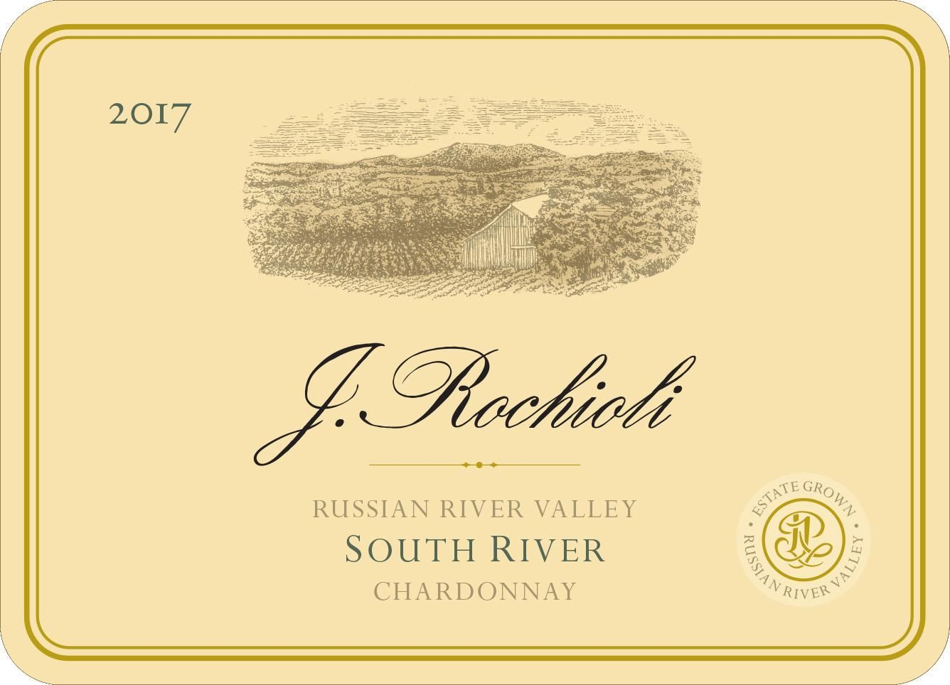 Rochioli South River Vineyard Chardonnay 2017 Front Label