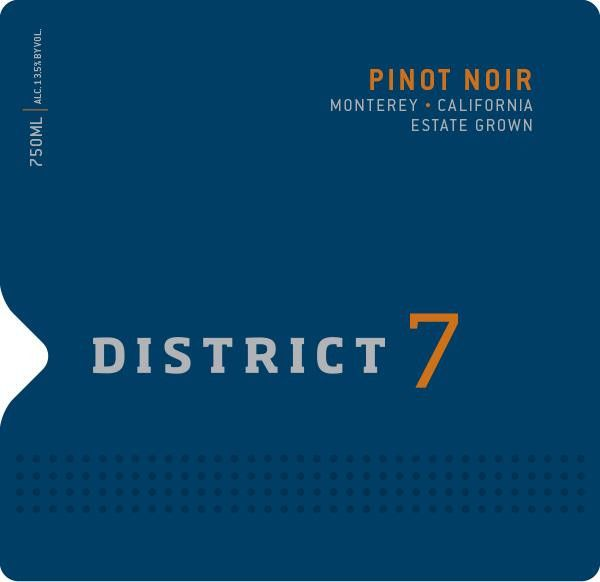 District 7 Pinot Noir 2017 Front Label