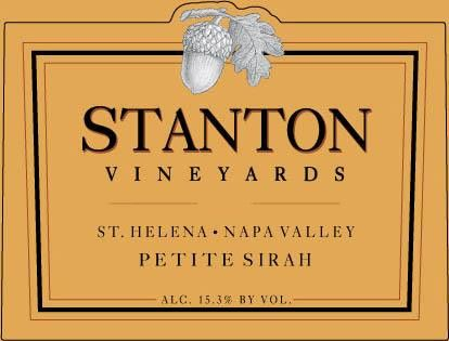 Stanton Vineyards Saint Helena Petite Sirah 2016 Front Label