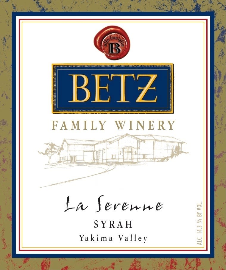 Betz Family Winery La Serenne Syrah 2016  Front Label