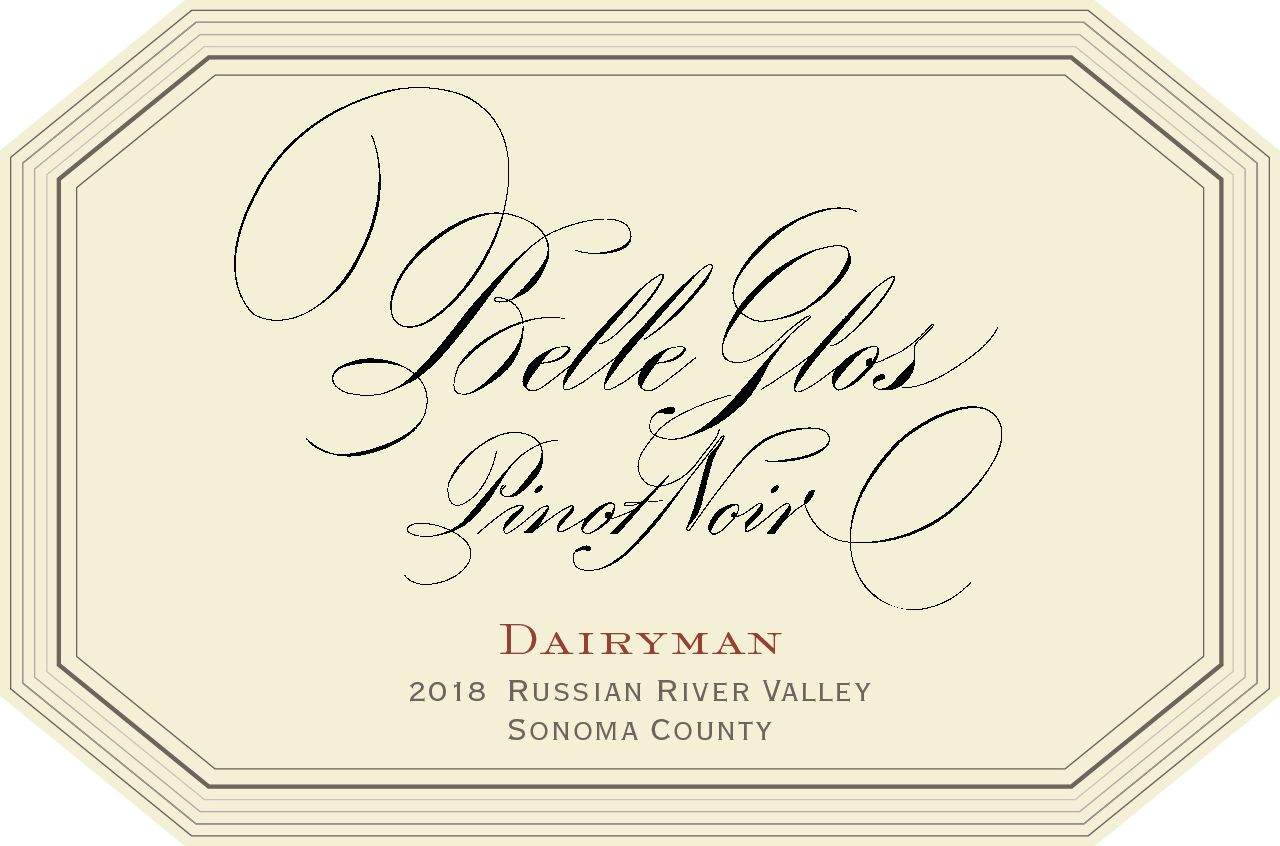 Belle Glos Dairyman Vineyard Pinot Noir 2018  Front Label