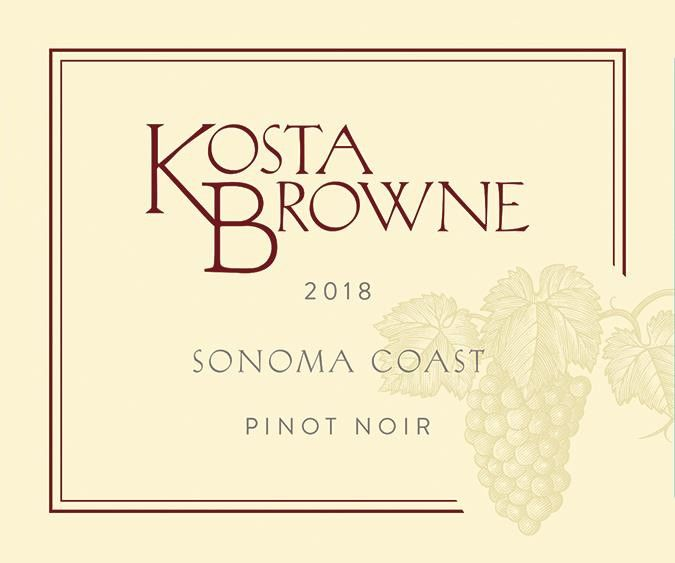 Kosta Browne Sonoma Coast Pinot Noir (375ML half-bottle) 2018  Front Label