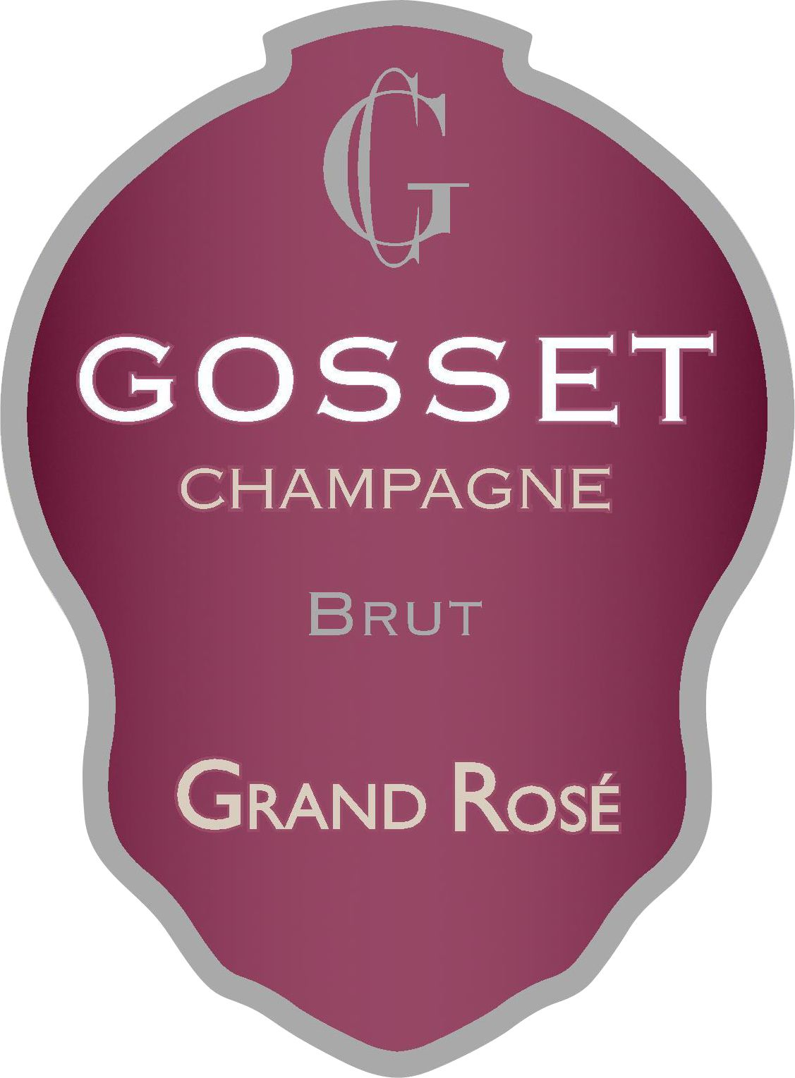 Gosset Grand Rose Brut Front Label