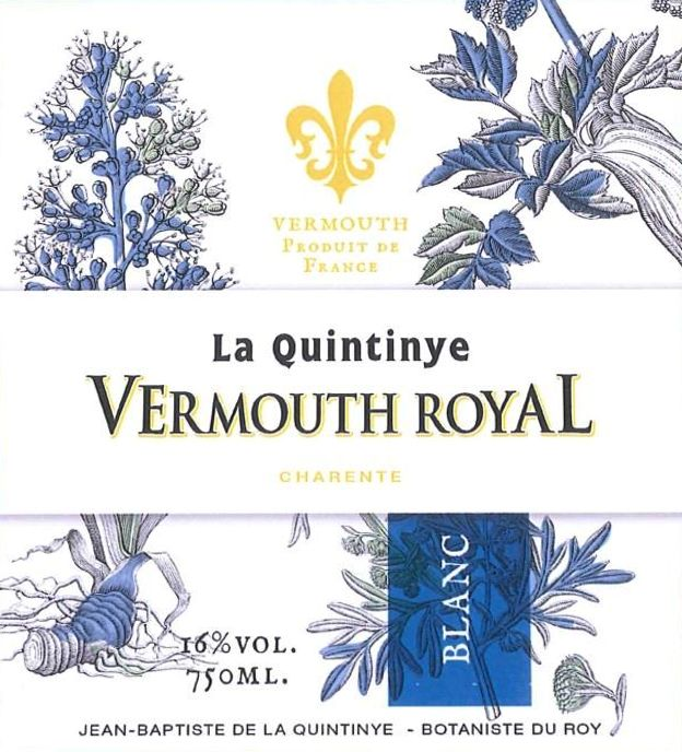 La Quintinye Vermouth Royal Blanc Vermouth Front Label