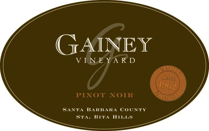 Gainey Pinot Noir 2017  Front Label