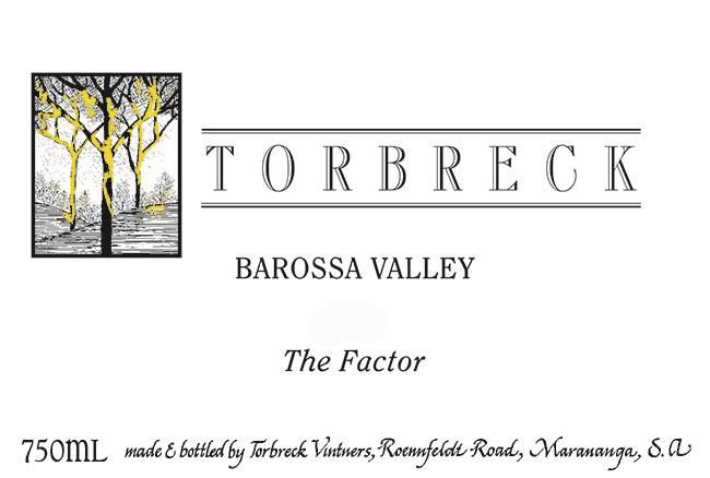 Torbreck The Factor Shiraz 2001  Front Label