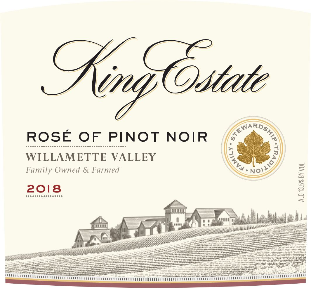 King Estate Willamette Valley Rose of Pinot Noir 2018  Front Label