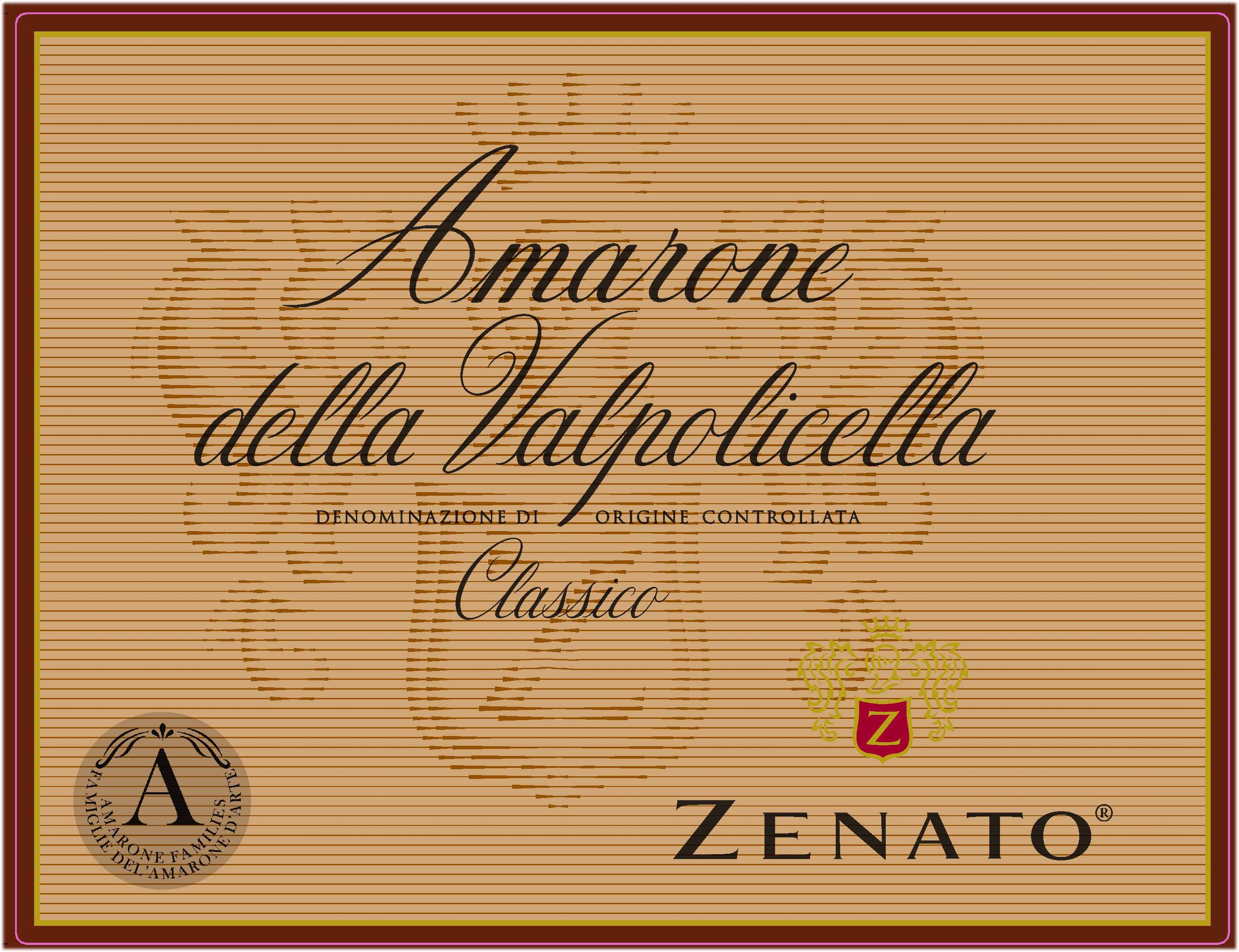 Zenato Amarone 2016  Front Label