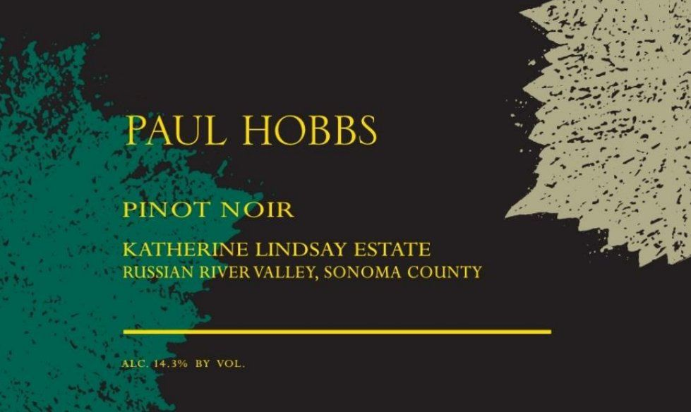 Paul Hobbs Katherine Lindsay Estate Vineyard Pinot Noir 2016 Front Label