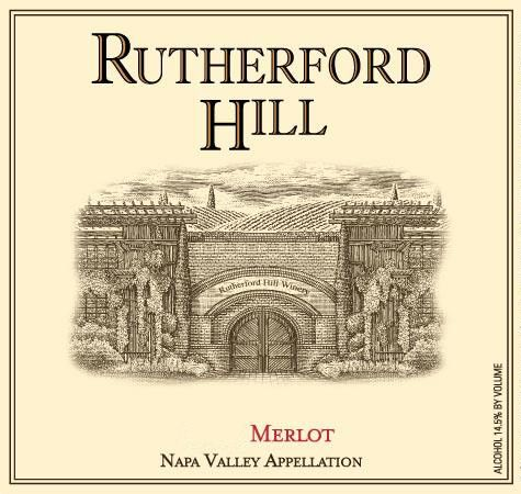 Rutherford Hill Merlot (375ML half-bottle) 2015  Front Label