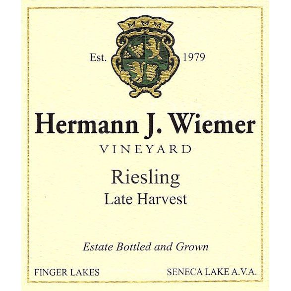 Hermann J. Wiemer Late Harvest Riesling 2016  Front Label