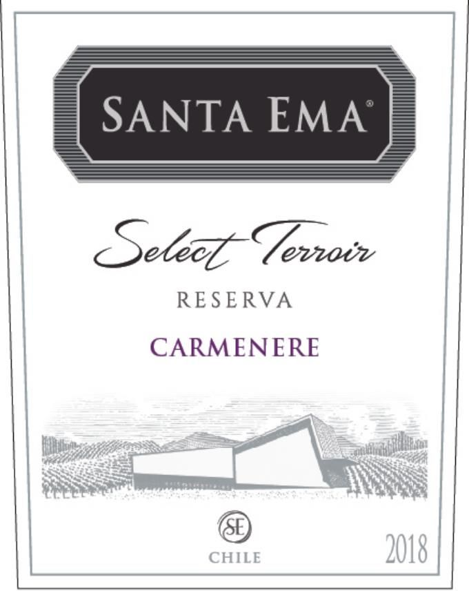 Santa Ema Select Terroir Carmenere 2018 Front Label
