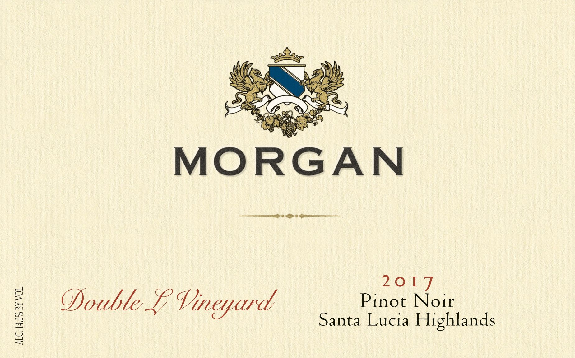 Morgan Double L Vineyard Pinot Noir 2017  Front Label