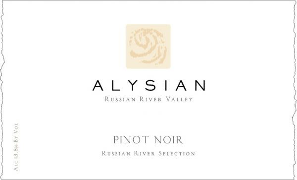Alysian Russian River Selection Pinot Noir 2015  Front Label