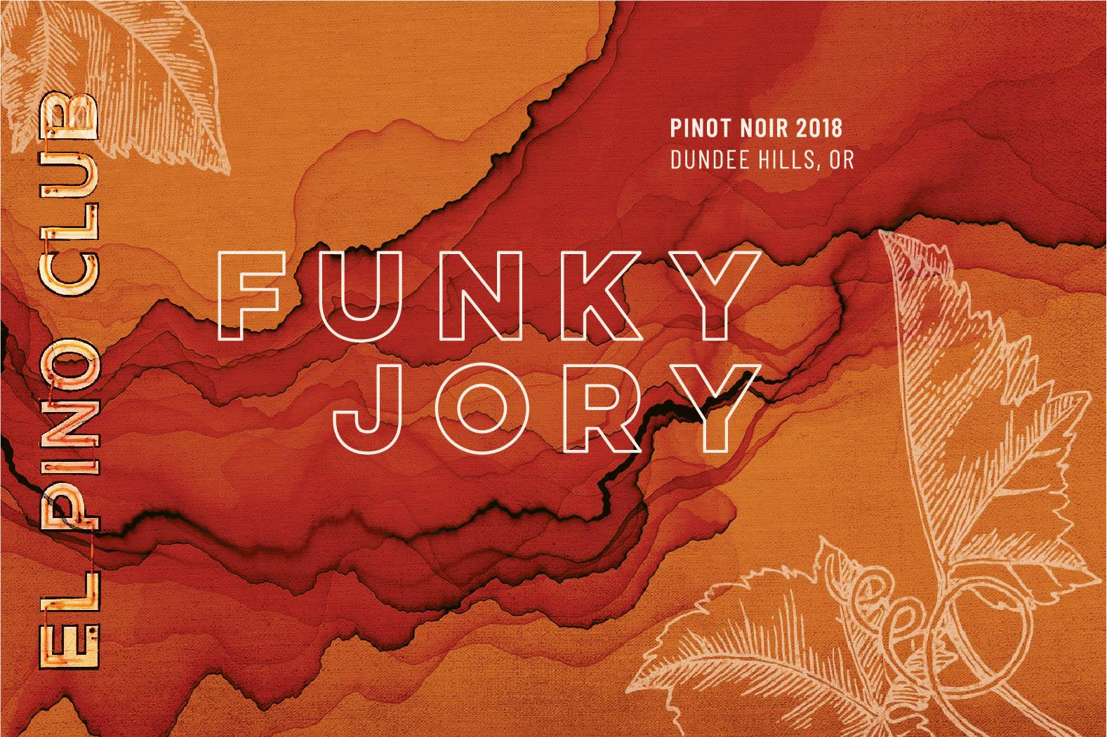 El Pino Club Funky Jory Pinot Noir 2018  Front Label